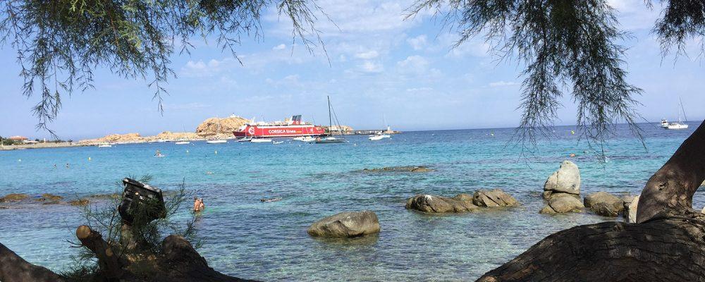 Escale à la gare maritime de l'île Rousse en Corse